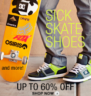 Skate Shoes - DC, Creative Recreation, Supra and more! Up to 60% off