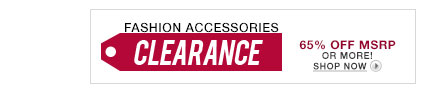 Fashion Accessories Clearance
