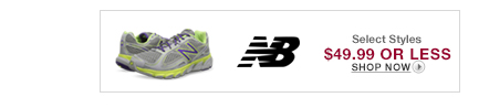 5/4 - New Balance $49.99 or less.