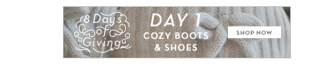 12/6 - 8 Days of Giving: Cozy Footwear