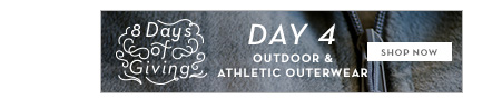 8 Days of Giving: Outdoor & Athletic Outerwear