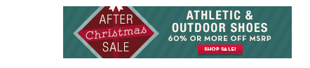 After XMas Sale: Performance and Outdoor Footwear