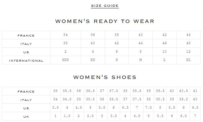 Ron Shoe Size Chart