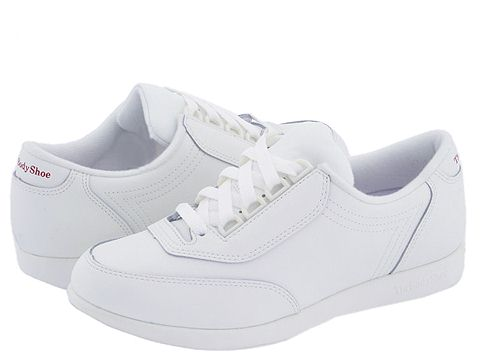 Hush Puppies Classic Walker (White Leather) Women's Shoes