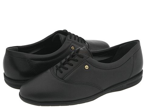 Easy Spirit - Motion (Black Leather) Women's Lace up casual Shoes