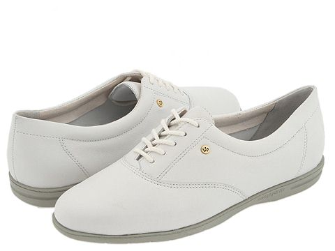 Easy Spirit - Motion (White Leather) Women's Lace up casual Shoes