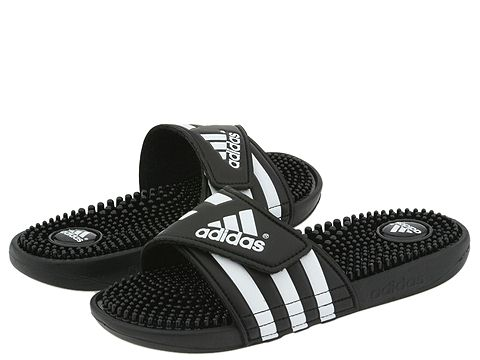 ... UPC 098092216287 product image for adidas adissage (Black White) Women s  Sandals  785b215c7