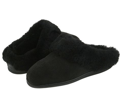 Minnetonka - Sheepskin Mule (Black) Women's Shoes