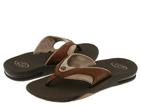 Reef - Fanning Leather (Brown) Men's Sandals