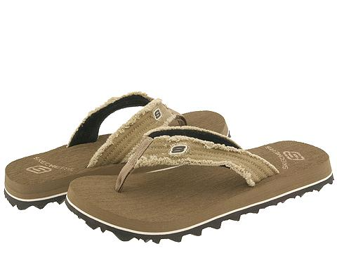 SKECHERS - Fray (Brown Textile) Men's Sandals