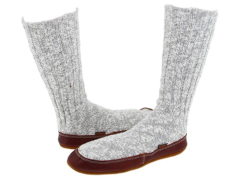 ... UPC 049129244322 product image for Acorn Slipper Sock Cotton (Grey  Fabric) Slippers | upcitemdb ...