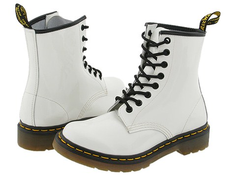 Dr. Martens 1460 W (White Patent) Women's Lace-up Boots