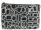 Whiting & Davis Handbags - Cubes Screenprint on Mesh Pouch w/ Removable Chain Strap (Black) - Bags and Luggage