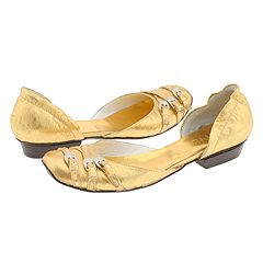 Alexander Hotto - 31633 (Gold) - 6PM.com :  leather d-orsay gold metallic