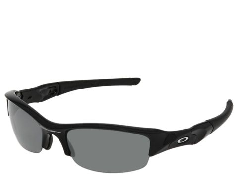 Oakley - Flak Jacket Polarized (Jet Black/Black Iridium Polarized Lens) Sport Sunglasses