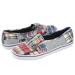Tommy Hilfiger - Bobbie (Railroad/Plaid Patchwork) - 6PM.com :  tommy hilfiger madras shoes sneakers