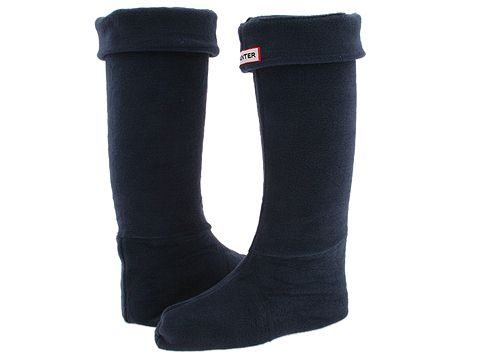Hunter - Welly Socks (Navy) Crew Cut Socks Shoes