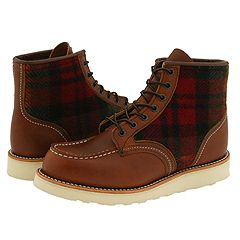 Red Wing Shoes - Lumberjack (Original Leather With Woolrich Fabric) - 6PM.com