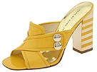 Marc by Marc Jacobs - Met Heel 2button Sld (Yellow Shiny Calf) - Footwear