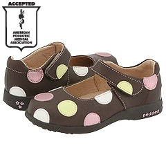 pediped Giselle Flex (Toddler/Little Kid) (Chocolate W/ Dots)
