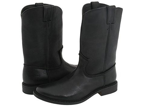 Frye - Marco Roper (Black) Cowboy Boots