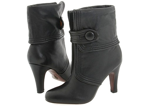 Frye - Ava Button (Black) - Footwear