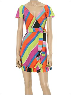 Betsey Johnson - Bold Diagonal Stripe On Matte Dress (Multi Color) - Apparel