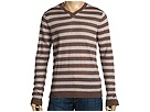 Converse by John Varvatos - LS Gauzy Striped V-Neck Sweater (Earth) - Apparel