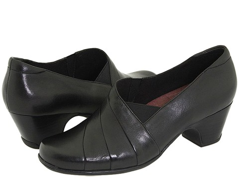 Clarks - Sugar Spice (Black Leather) Women's Shoes