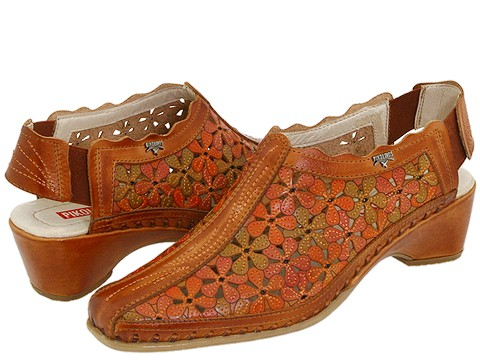 Pikolinos - Romana 607-8809 (Brandy Leather) Women's Slip on Shoes