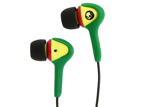 Skullcandy - Smokin Bud (2010) (Rasta) Headphones