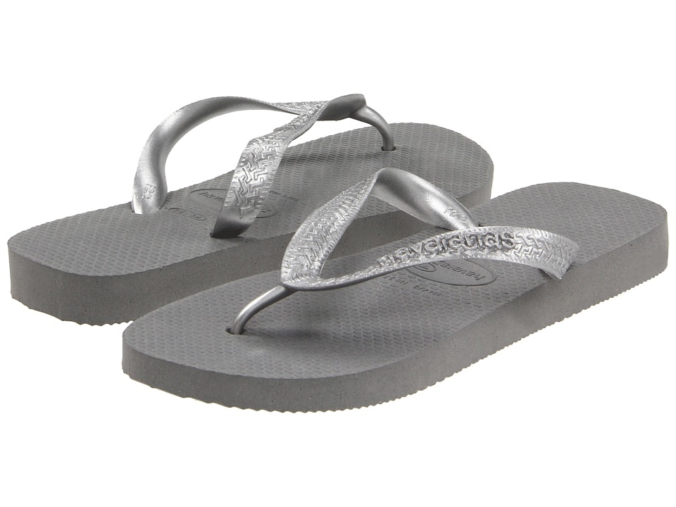 Havaianas - Top Metallic Flip Flops (Grey/Silver) Women's Sandals