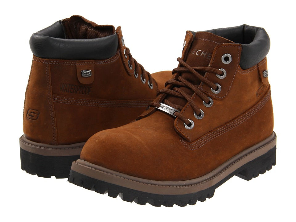 SKECHERS - Verdict (Dark Brown) Men's Lace-up Boots