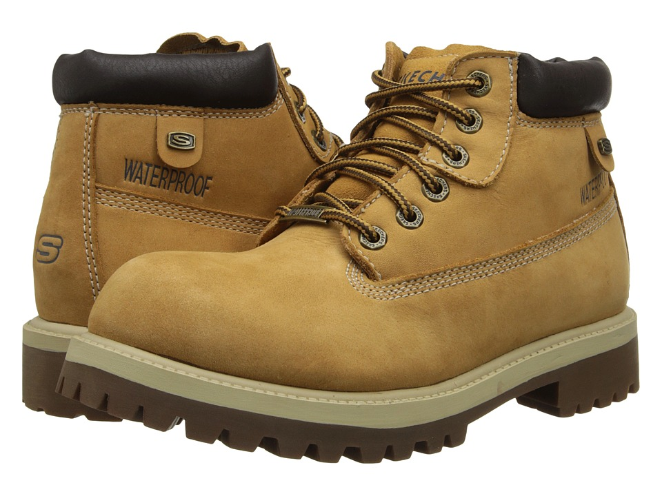SKECHERS - Verdict (Wheat Waterproof Oily Nubuck) Men's Lace-up Boots