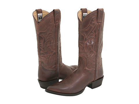 Frye - Bruce Pull On (Dark Brown Leather) Cowboy Boots