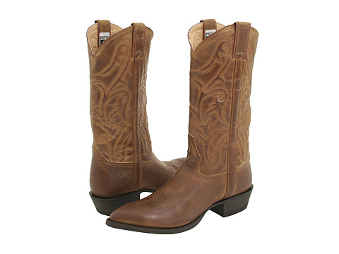 Frye - Bruce Pull On (Tan Leather) Cowboy Boots