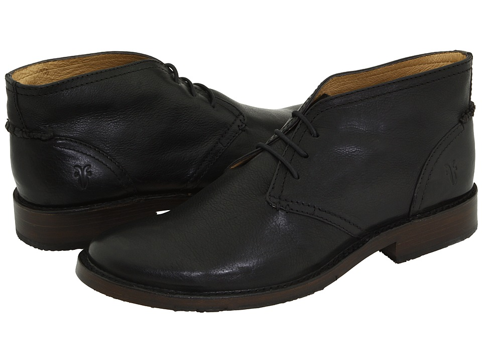 Frye - Oliver Chukka (Black Full Grain Leather) Men's Lace up casual Shoes