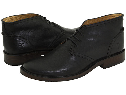 Frye - Oliver Chukka (Black Full Grain Leather) Men