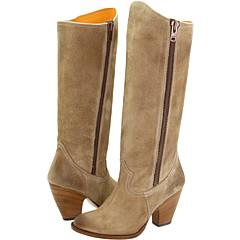 Frye Angela Side Zip (Tan Leather) Footwear