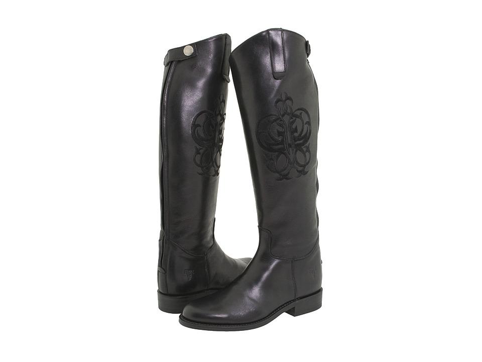 Frye - Riding Back Zip (Black Leather) Women's Zip Boots