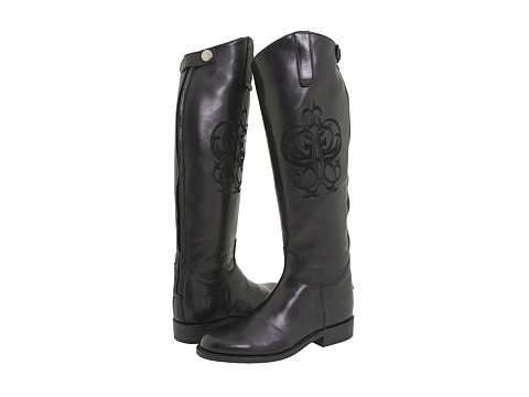 Frye - Riding Back Zip (Black Leather) Women's Zip Boots