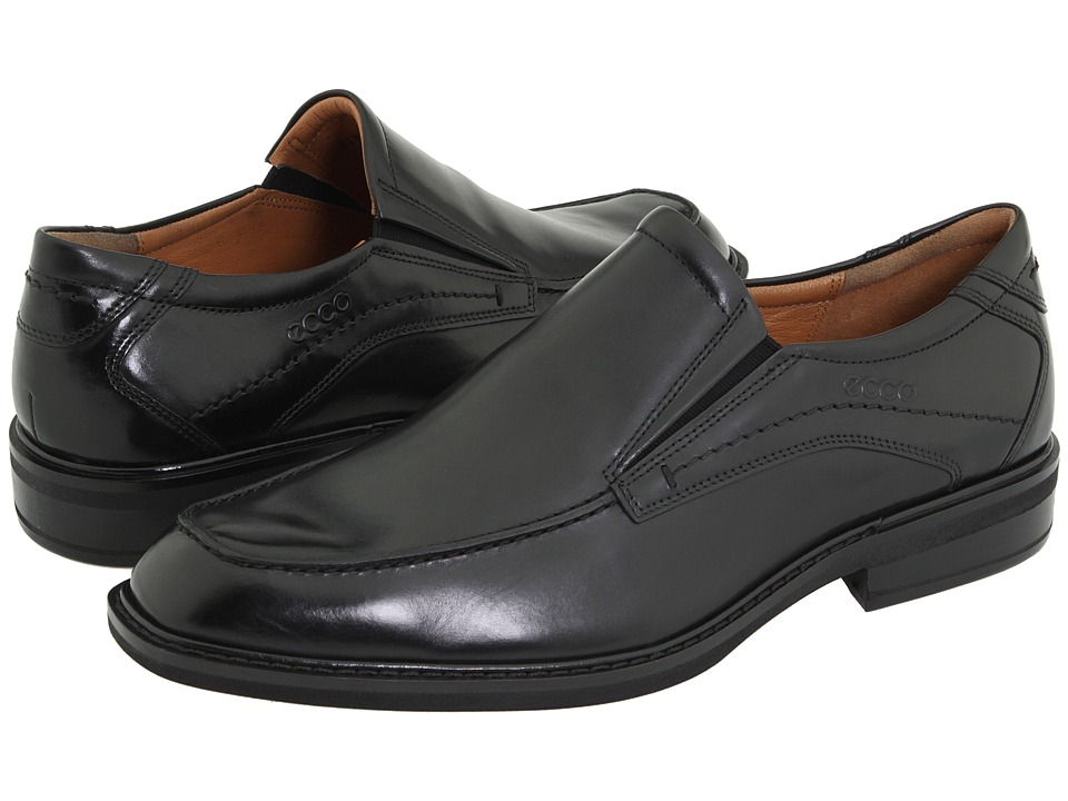 ECCO - Windsor Apron Slip-On (Black Brazilian Calf Skin Leather) Men's Slip-on Dress Shoes