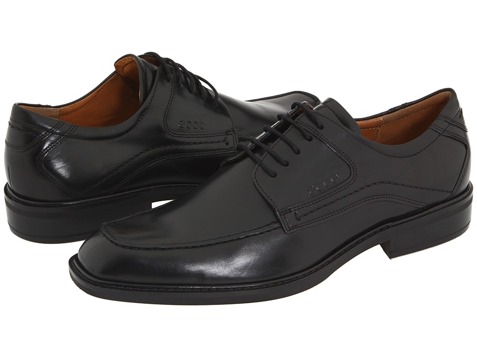 ECCO - Windsor Apron Tie (Black Brazilian Calf Skin Leather) Men's Lace up casual Shoes