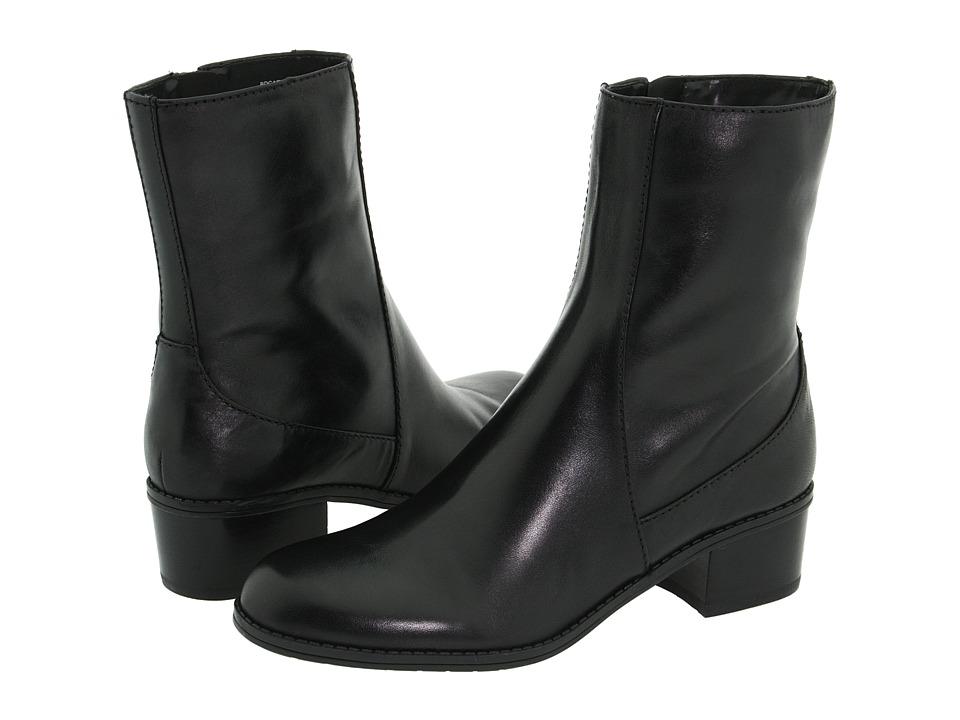 Bandolino - Carlessa (Black Leather) Women's Dress Zip Boots