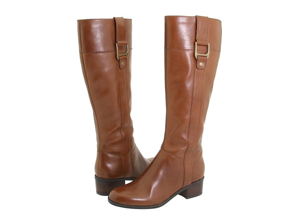 Bandolino - Castalina (Cognac Leather) Women's Dress Zip Boots