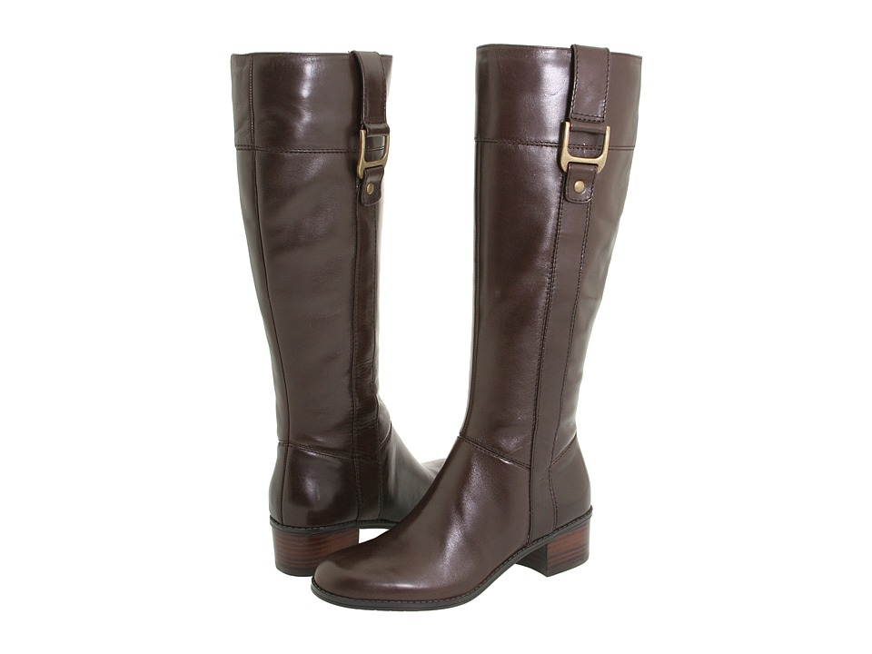 Bandolino - Castalina (Dark Brown Leather) Women's Dress Zip Boots
