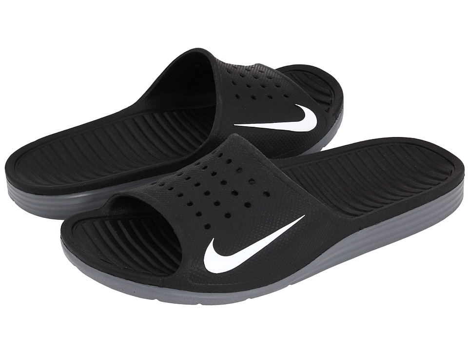 Nike - Solarsoft Slide (Black/White) Men's Sandals