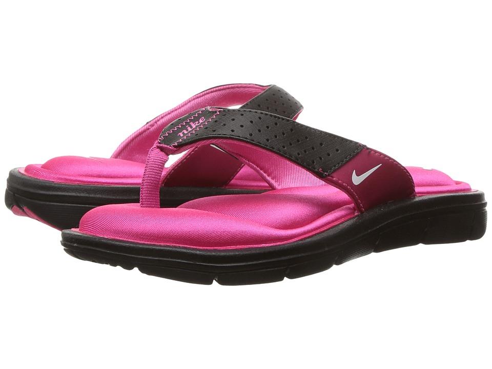 Nike - Comfort Thong (Black/White-Vivid Pink) Women's Sandals