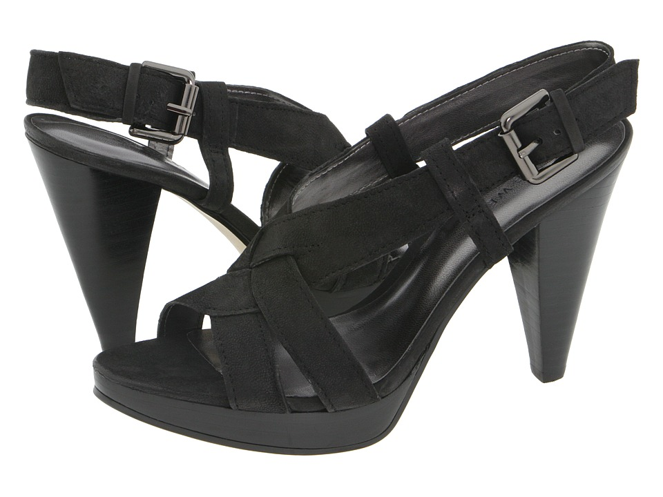 Nine West - Bobbyjo (Black Leather) Women's Dress Sandals