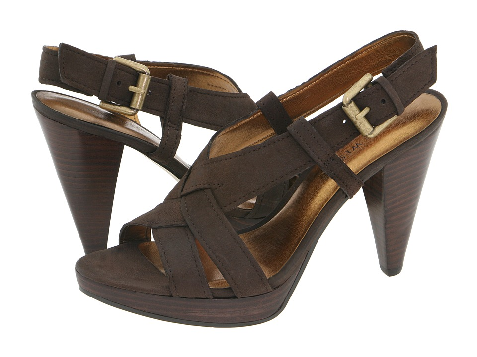 Nine West - Bobbyjo (Dark Brown Leather) Women's Dress Sandals